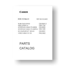 Canon EOS-1D Mark II Parts List Download