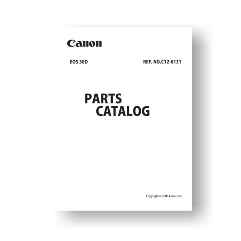 Canon EOS 30D Parts List Download