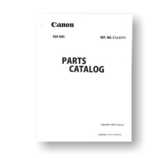 25 page PDF 3.06 MB download for the Canon C12-6171 Parts Catalog | EOS 40D