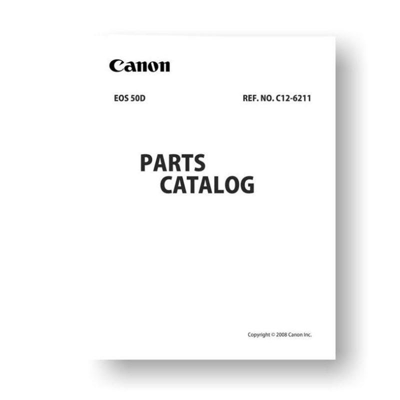 Canon EOS 50D Parts List Download