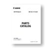 Canon EOS 7D MKII Parts Catalog PDF Download (7dmkII-pl)