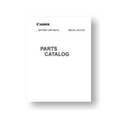 Canon Battery Grip BG-E1 Parts List Download