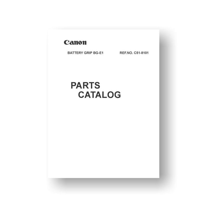 Canon C51-8101 Parts List | Battery Grip BG-E1