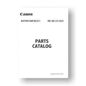 Canon Battery Grip BG-E11 Parts List Download