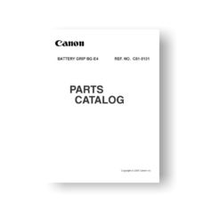 Canon BG-E4 Parts Catalog Download