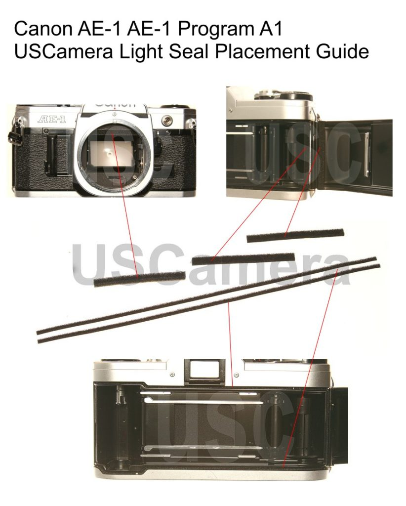 Canon A1 AE-1 AE-1 Program AV-1 Custom Light Seal Kit