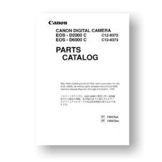 33-page PDF 1.78 MB download for the Canon C12-8372 Parts Catalog | EOS D2000 C | EOS 6000 C