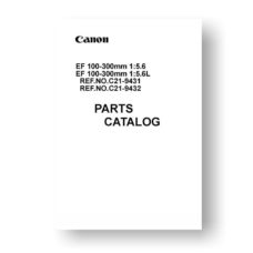 Canon EF 100-300 5.6 | EF 100-300 5.6 L Parts List Download