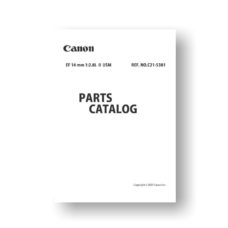 Canon EF 14 2.8 L II USM Parts List Download