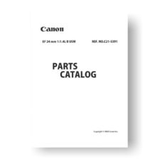 Canon EF 24 1.4 L II USM Parts List Download