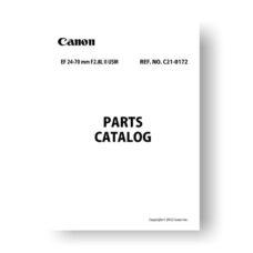 Canon C21-0172 Parts Catalog | EF 24-70 2.8L II USM