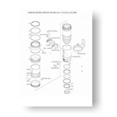 6page PDF 324 KB download for the Canon C21-0211 Parts Catalog | EF 28-300 3.5-5.6 L IS USM