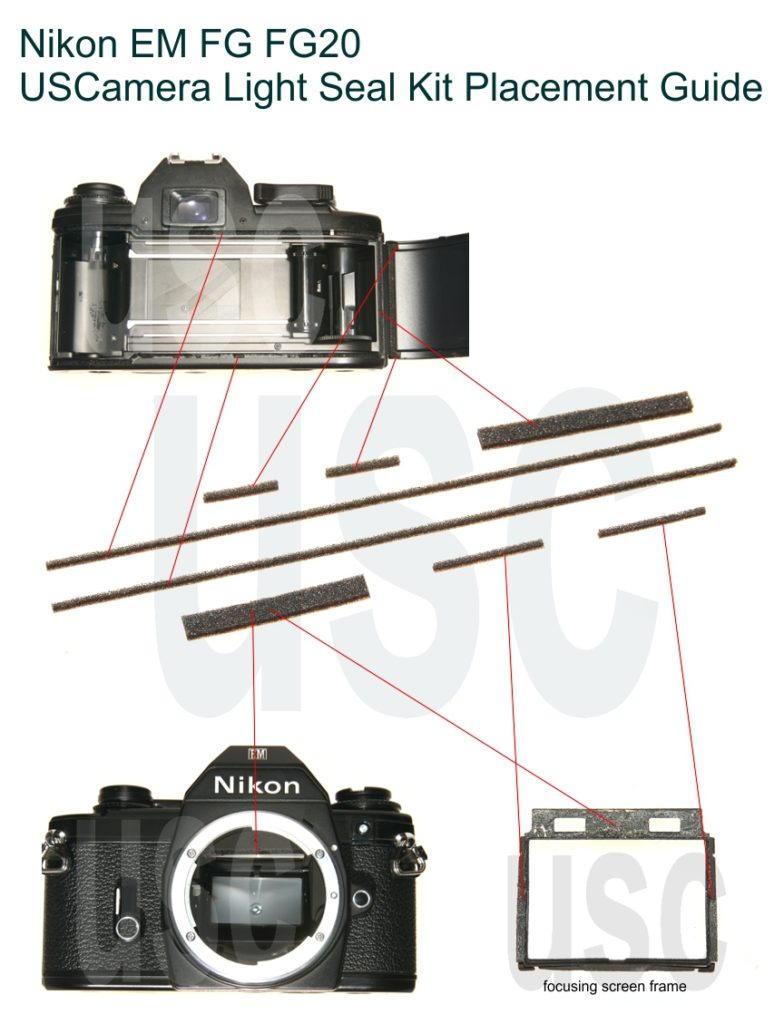 Nikon EM FG FG-20 Custom Light Seal Kit