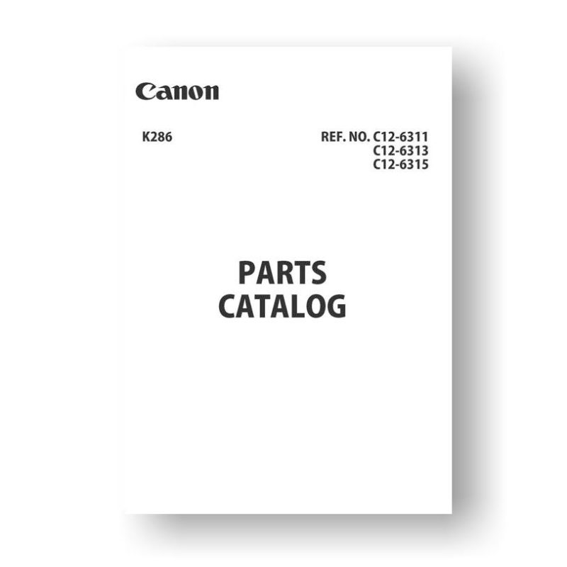 12 page PDF 4.93 MB download for the Canon C12-6313 Parts Catalog | EOS 600D | EOS X5 | EOS Rebel T3i