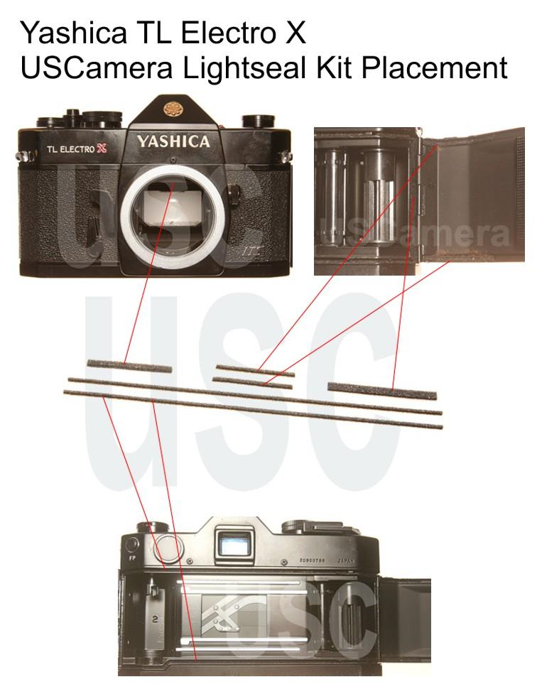 Yashica TL Electro X Custom Light Seal Kit