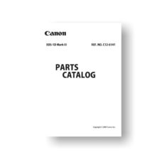 Canon EOS 1D Mark III Parts List Download