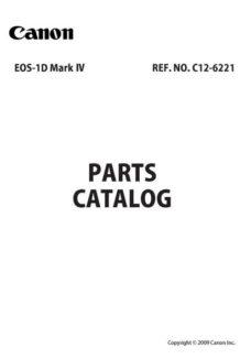 Canon EOS 1D MKIV Parts Catalog Download (1dmkIV-pl)