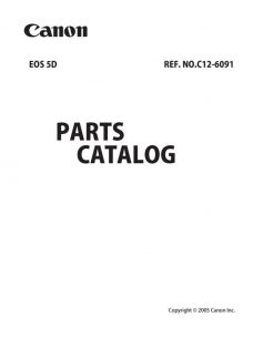 Canon EOS 5D Parts Catalog Download (5d-pl)