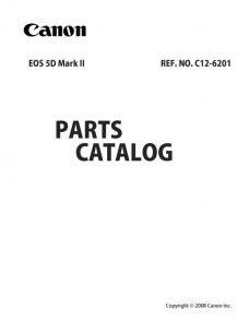 Canon EOS 5D MKIII Parts Catalog Download (5dmkII-pl)
