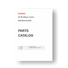 6-page PDF 126 KB download for the Canon C21-0152 Parts Catalog | EF 28-105 4-5.6