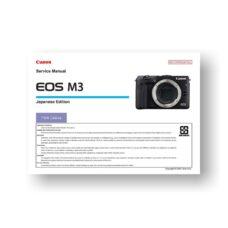 Canon EOS M3 Parts Catalog