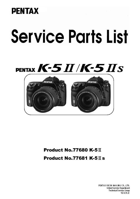 Pentax K-5 II K-5 IIs Parts List Download