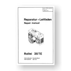 56-page PDF 7 MB download for the Rollei 35TE Repair Manual Parts List | 35mm Film Cameras