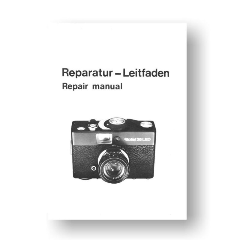 56-page PDF 2.04 MB download for the Rollei 35LED Repair Manual Parts List Download