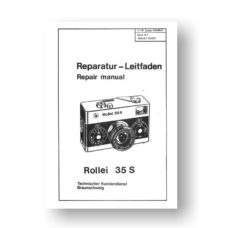 Rollei 35S Repair Manual Parts List Download
