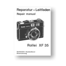 Rollei XF35 Service Manual Parts List Download