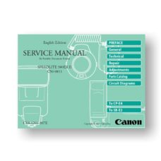 Canon C50-0811 Service Manual Speedlite 580 EX II