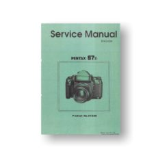 Pentax 67II Service Manual Parts List Download