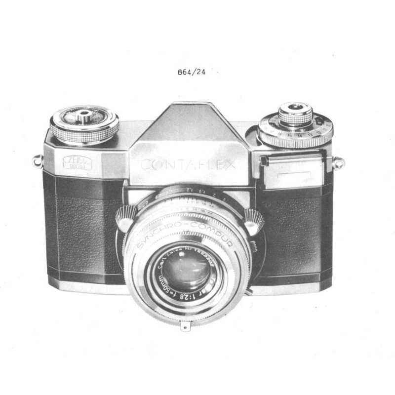 Zeiss Contaflex Complete Service Manual PDF Download (ZEISSDCF1234-SM)