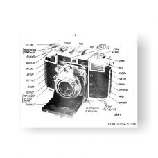 61-page PDF 5.68 MB download for the Zeiss-Contessa 10.0632 Service Manual Part Lists | Vintage SLR