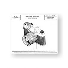 20-page PDF 1.90 MB download for the Rolleilex SL35 Repair Manual Parts List | 35mm Film Cameras