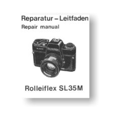 54-page PDF 3.20 MB download for the Rolleiflex SL35M Repair Manual Parts List Download