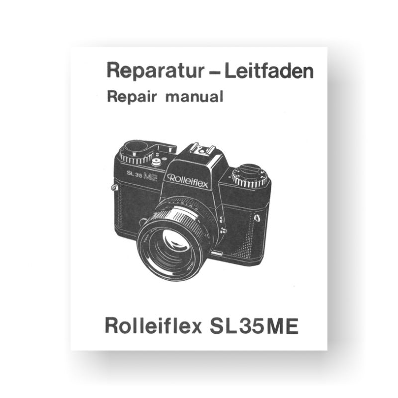 62-page 2.76 MB download for the Rolleiflex SL35ME Repair Manual Parts List | 35mm Film Cameras