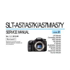 Sony SLT-A57 Service Manual Parts List PDF Download (SLT-A57-SM)