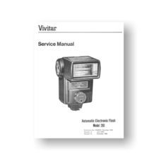40-page PDF 2.5 MB download for the Vivitar 283 Service Manual Parts List | Shoe Mount Flash