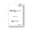 67-page PDF 1.9 MB download for the Nikon FCA28001 Repair Manual Parts List | 28 Ti