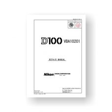 Nikon D100 Service Parts Download | Nikon Repair Manual