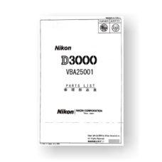 14-page PDF 1.85 MB download for the Nikon D3000 Parts List | Digital SLR