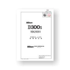 51-page PDF 3.37 MB download for the Nikon D300S Parts List | Digital SLR