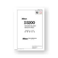 27-page PDF 2.60 MB download for the Nikon D3200 Parts List | Digital SLR