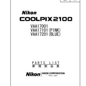 Nikon Coolpix 2100 Service Manual Parts List Download (CP2100-SMPL)