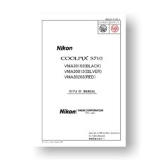 99-page PDF 7.82 MB download for the Nikon Coolpix S710 Repair Manual Parts List | Digital Compact
