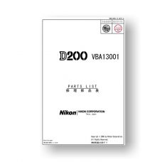 Nikon D200 Parts List Download