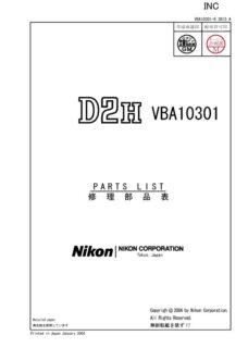 Nikon D2H Service Manual Parts List Download (D2H-SMPL)