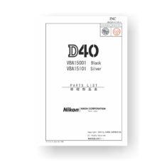 31-page PDF 2.13 MB download for the Nikon D40 Parts List | Digital SLR