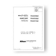 Nikon 4004S Parts List